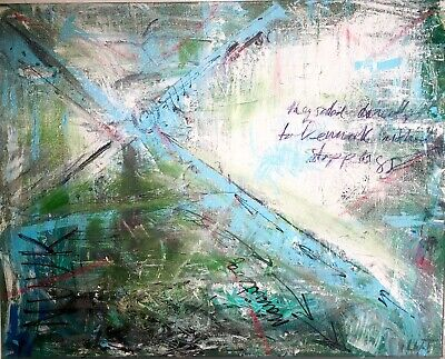 Informel Expressionist Abstract Painting 16 X 20 LW Jeffrey