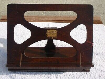 Vintage Antique Wooden British Made Bershaw Piano Easel Music Stand Book Rest