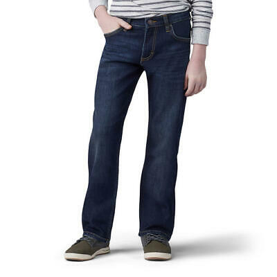 Lee Boy Proof Boys Straight Fit Leg Dark Blue Jeans Size 14 S NWT