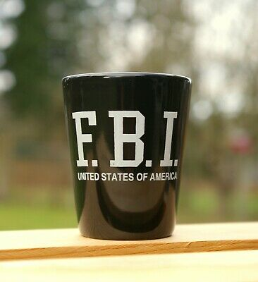 F.B.I. United States of America Federal Bureau Investigation Ceramic Shot Glass