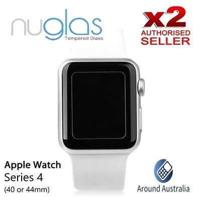 2 X Nuglas Tempered Glass Screen Protector for Apple Watch 38mm 42mm iWatch 1234