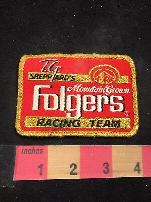 TG SHEPPARD'S FOLGERS COFFEE RACING TEAM Car Race Patch - Red Version 80NT