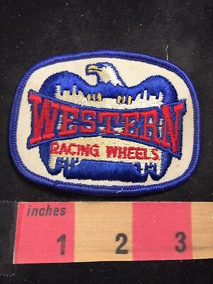 Vtg WESTERN RACING WHEELS Advertising Patch 80NT