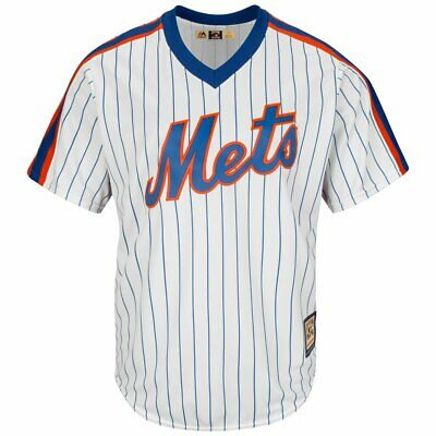 2XL Mens Majestic NEW YORK METS Cooperstown CoolBase Jersey Baseball MLB Shirt D