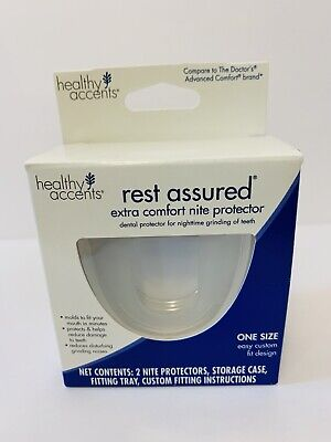 2 Rest Assured Extra Comfort Nite Protector Dental Protector &  Storage Case NEW
