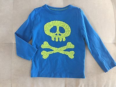 Baby Boden Boys Shirt Size 2-3T Blue Think Soft Cotton Pirate