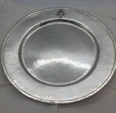 Robert Sturm Cincinnati Antique Sterling Silver Hammered Platter Dish 793g