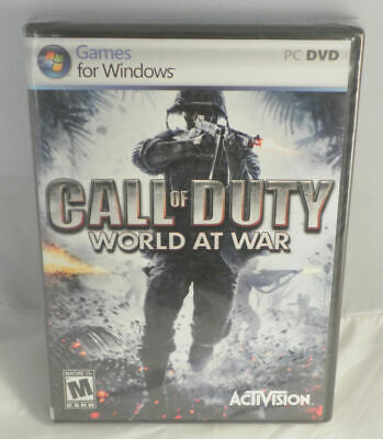 Brand New, Factory Sealed Call of Duty World at War for Microsoft Windows PC
