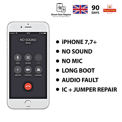 iPhone 7/7PLUS NO SOUND MIC VOICE RECORD LONG BOOT - AUDIO IC REPAIR WITH JUMPER