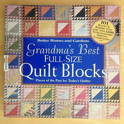 Grandma's Best Full Size Quilt Blocks by Better Homes and Gardens, Spiral Bound
