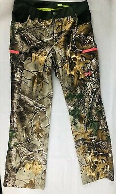 5805158f4d910 Under Armour Storm Women's Scent Control Camo Real Tree & Pink Pants Size 4