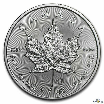 2019 1oz Canadian Maple Leaf $5 BU .9999 Fine Silver Coin
