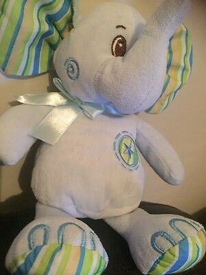 "Cuddles Collection Blue teeny tiny elephant 10/"" Plush Toy Card Factory"