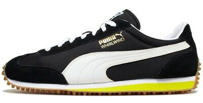 34d2a39bbb168 PUMA MEN'S WHIRLWIND Classic Sneaker Old School 1980's Fashion Black White  10.5