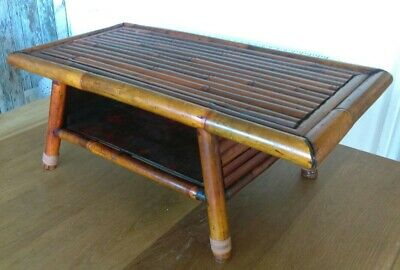Antique Vintage Japanese Bamboo Tea Serving Coffee Table