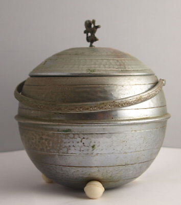 Antique Arts & Crafts Silver Plated Biscuit Barrel