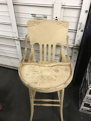 Antique Oak High Chair 1900 To 1930'S ??? Pick Up Only No Shipping