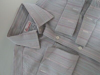 Turnbull Asser made in England Stripe Mother Of Pearl Dress shirt 15 1/2