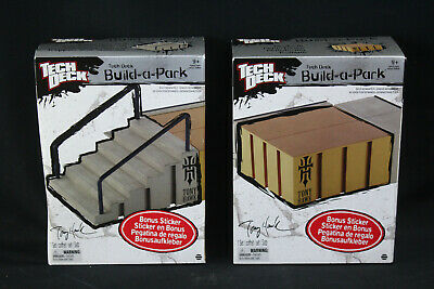 NOS Tech Deck Build-a-Park Tony Hawk Fdn. Fingerboard Stairs and Rail & Platform