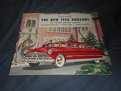 1950 Hudson Commodore 6 & 8 Super 6 Pacemaker color Brochure Catalog Prospekt