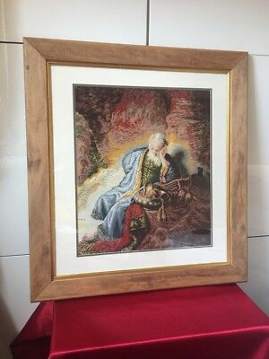 """Goblin Tapestry """"Prophet Jeremiah"""", Cross Stitch, Stitching, Religious"""