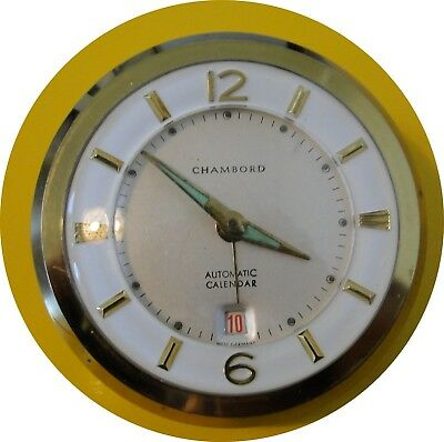 Reveil A Poser Ancien   Chambord Automatic Calendar Made Germany Fonctionne