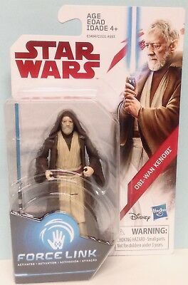 Star Wars Force Link Obi-Wan Kenobi Disney Hasbro 3.75 inch Figure
