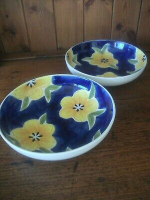 Whittard Of Chelsea Floral  Design Pasta Bowls X 2