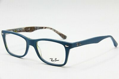 02f34d2b063 New Ray-Ban Rb 5228 5407 Blue Authentic Eyeglasses Frame Rb5228 50-17 W