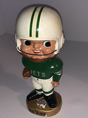 New York Jets 65-66 AFL Earpads Bobble Head Nodder Rare & Near Mint Condition