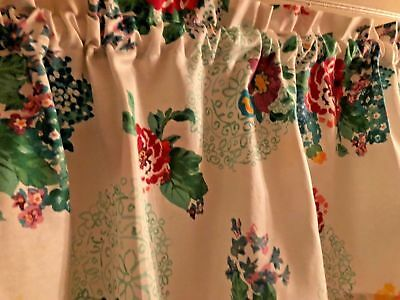 "Pioneer Woman Country Garden Kitchen Valance 60"" W x 14"" L Window Curtain Made"