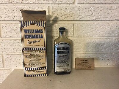 Antique Williams Formula Strengthened Tonic and Laxative quack medicine C1936