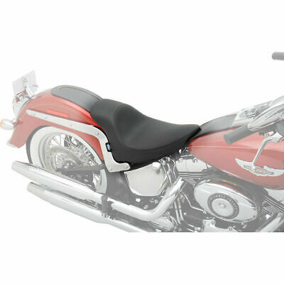 Drag Specialties EZ Mount Solo Seat for Yaffe Razorback Tank 2010-18 Harley FLH