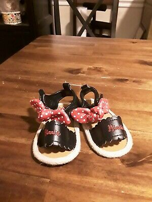 Disney  Minnie Mouse Sandals Size 6-12 Months NWOT😊 FAST SHIP 😊