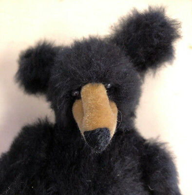 "Vintage Bearly There Company Linda Spiegel Lohre Bear Black Jointed 8""Dont Shoot"