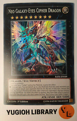 Yugioh - Neo Galaxy-Eyes Cipher Dragon - RATE-EN049 - Super Rare - 1st Ed - Mint