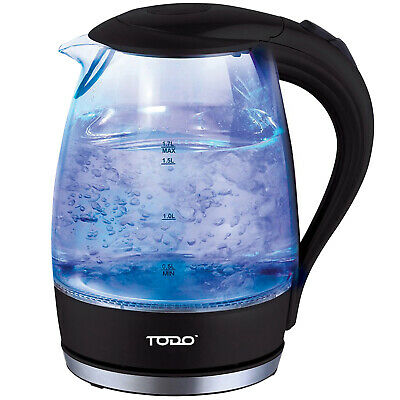 NEW 1.7L Cordless Removable Tea Infuser Glass Kettle - Todo,Small Appliances