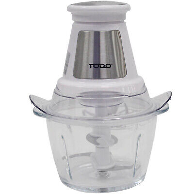NEW White 1.2L Dual Blade Glass Food Chopper - Todo,Small Appliances