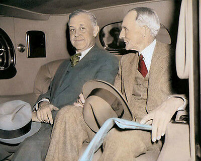 "HENRY FORD 1938 AMERICAN INDUSTRIALIST 8x10"" HAND COLOR TINTED PHOTOGRAPH"