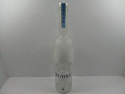 5396e145f3f4 Belvedere Vodka Promo Display Advertising Bottle Empty Sealed 18 Inches Tall