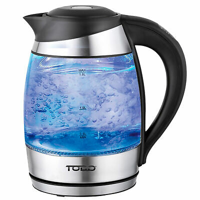 NEW 1.8L Cordless Smart Heat Control Glass Kettle - Todo,Small Appliances