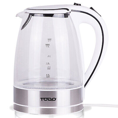 NEW 1.7L Cordless Glass Kettle - Todo,Small Appliances