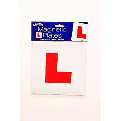 """Car Pride Magnetic 'L' Plates 2 Pack Easy To Fit Easy To Remove 7"""" x 7"""" Fast Del"""