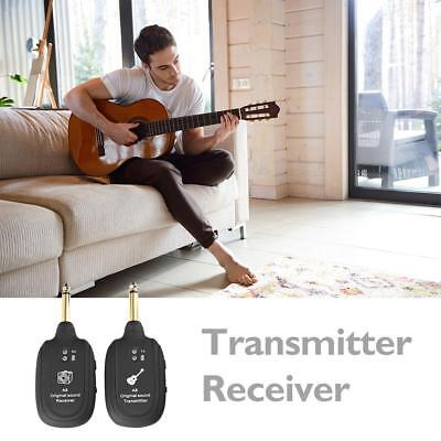 Portable UHF Guitar Wireless System Transmitter Receiver Built-in Rechargeable