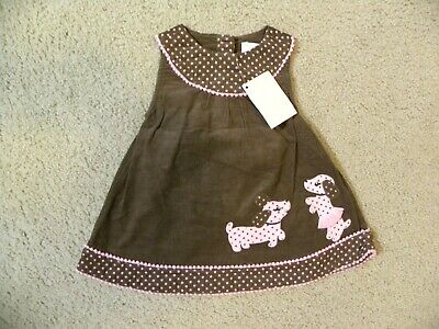 Gymboree NWT Ivory LOTS OF DOTS PUPPY DOG BOW DRESS TIGHTS 0 3 6 Months