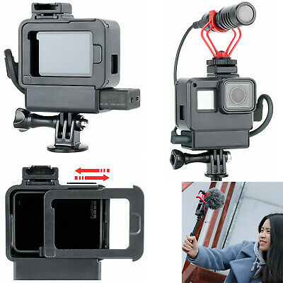 For GoPro Hero 7 6 5 Housing Case Microphone Adapter LED Video Light Cold Shoe