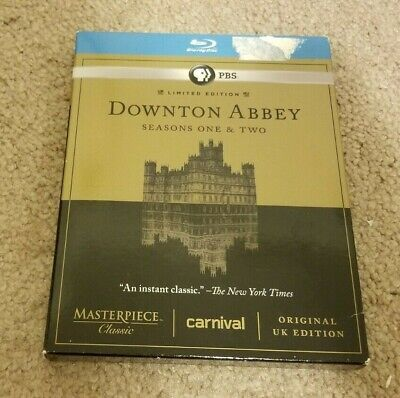 DOWNTON ABBEY Seasons One Two 1 2 Original UK Edition Blue-Ray 5 Disc Set Lim Ed