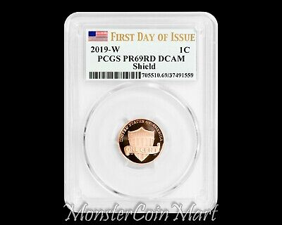 2019-W Lincoln Cent PCGS PR69RD DCAM FIRST DAY OF ISSUE
