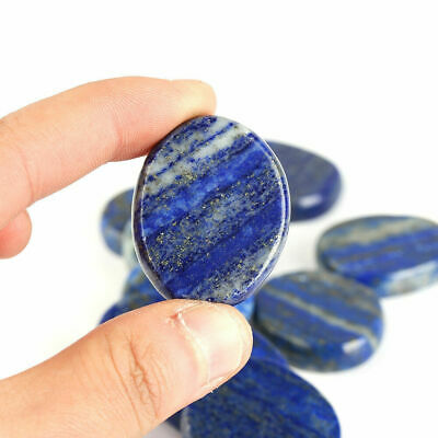 1 Pc Polished Natural Lapis Lazuli Gemstone Worry Palm Stone Thumb Lucky Stone