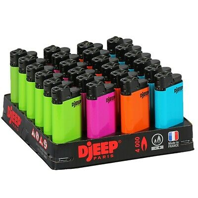 24 x - Djeep Neon Hot Body Lighters Slant Tray, New, Same Day Express Shipping